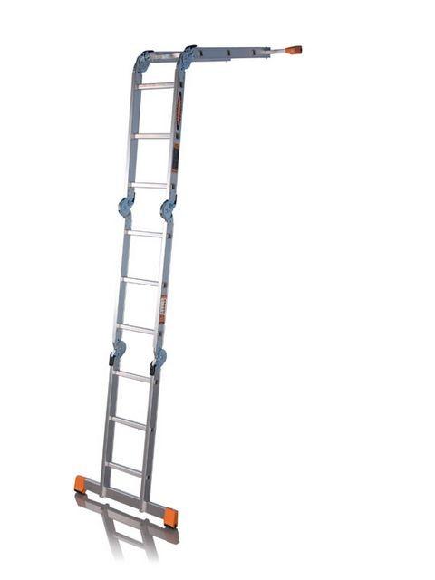 Фото - Лестница трансформер алюминиевая Эйфель Классик (ТФ 2X4+2X5 КЛАССИК)