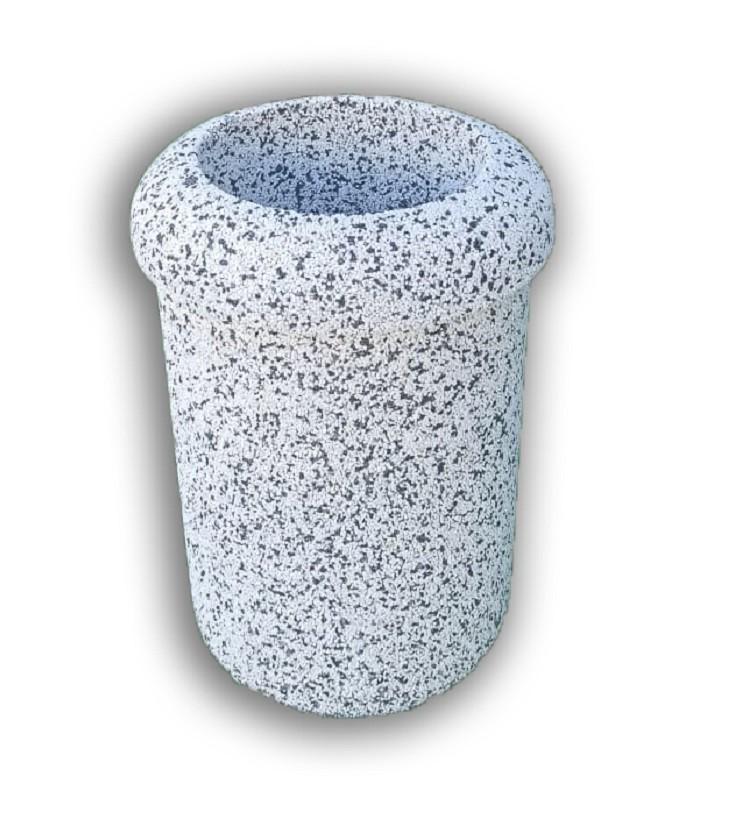 Фото - Урна бетонная АЛБЕНА с фактурой (Cеро-красный гранит)