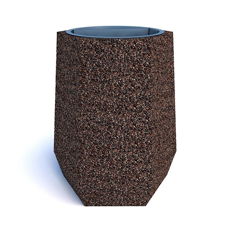 Фото - Урна бетонная Брест мини (Питерский гравий)