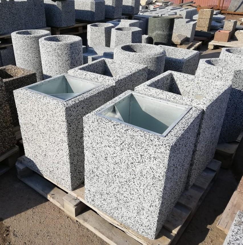 Фото - Урна бетонная Киль макси (Мрамор шахматка)