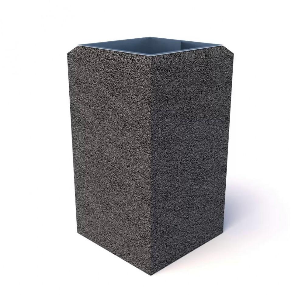 Фото - Урна бетонная Киль макси (Габбро диабаз)