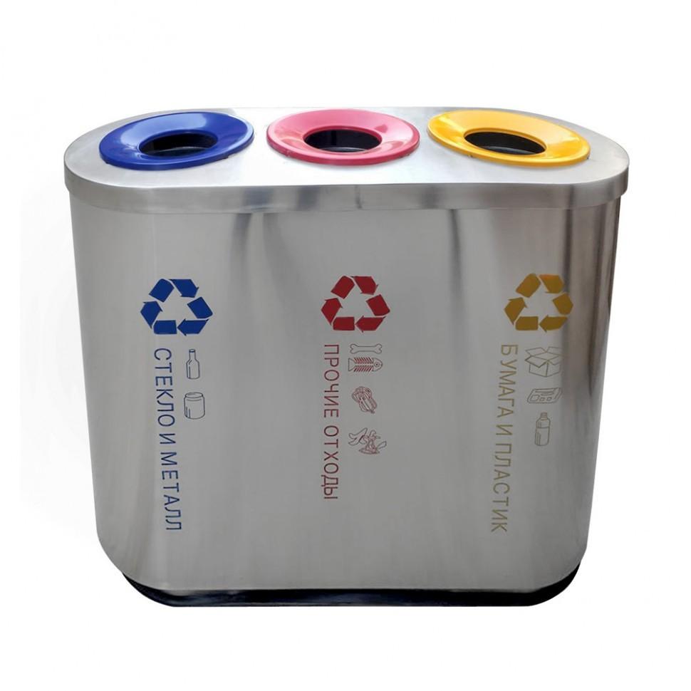 Фото - Урна для раздельного сбора мусора САНАКС-3 модель 2