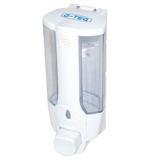Дозатор для жидкого мыла белый 0.38 л. G-teq 8617, фото
