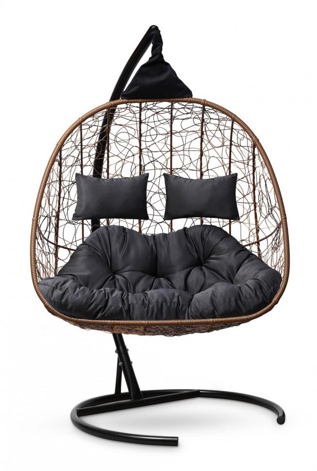 Фото - Подвесное кресло-кокон SEVILLA TWIN горячий шоколад + каркас