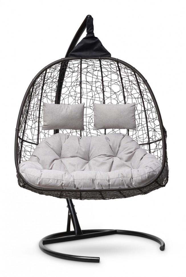 Фото - Подвесное кресло-кокон SEVILLA TWIN коричневое + каркас