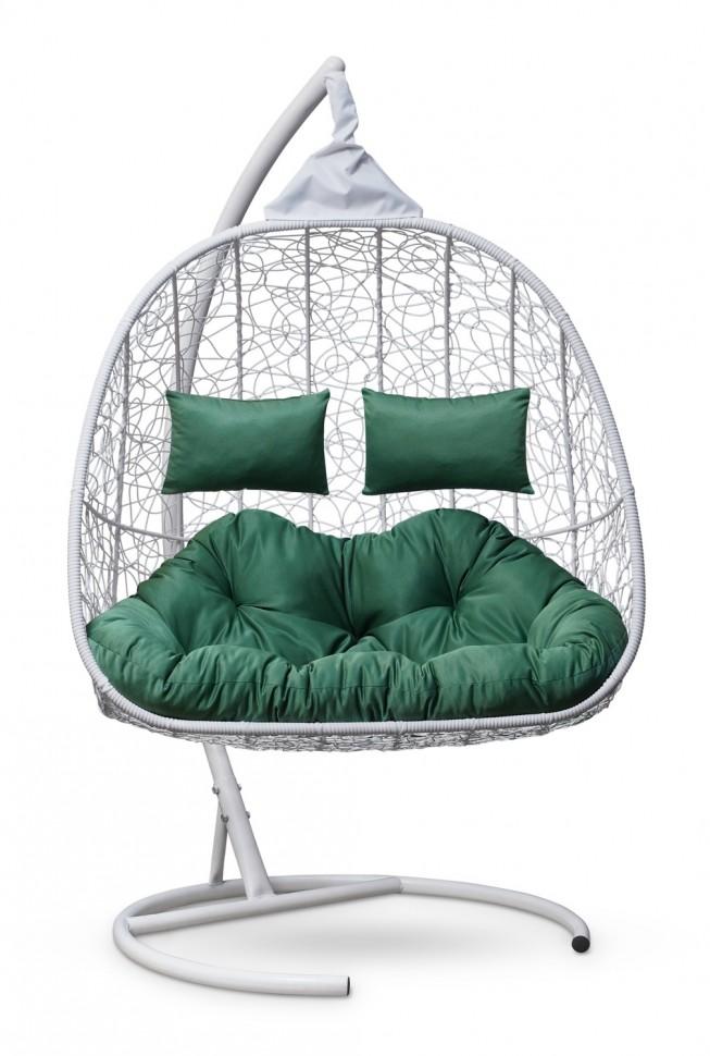 Фото - Подвесное кресло-кокон SEVILLA TWIN белое + каркас