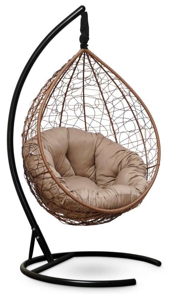Фото - Подвесное кресло SEVILLA VERDE горячий шоколад + каркас