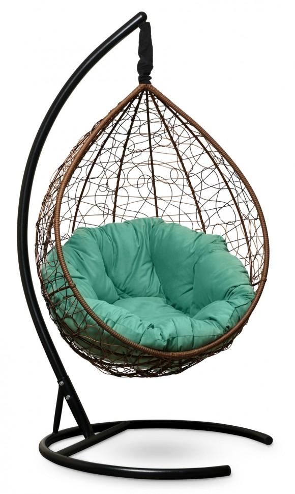 Фото - Подвесное кресло SEVILLA VERDE VELOUR горячий шоколад + каркас
