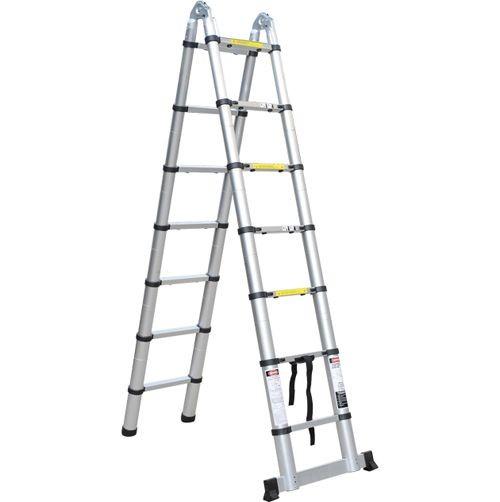 Телескопическая лестница-стремянка QH 2x9 (3,6+3,6)